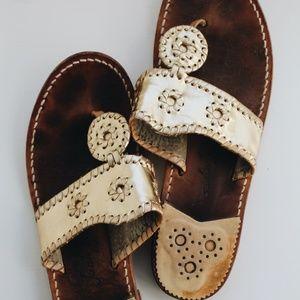 Gold Size 9 Jack Roger Sandals